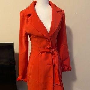 Blazer dress coral color